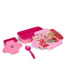 Barbie Insulated Lunch Box With 2 in 1 Fork Spoon - Pink