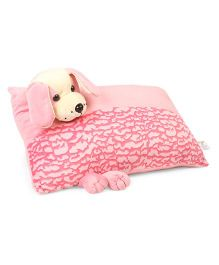 Funzoo Puppy Soft Toy Pillow - Light Pink