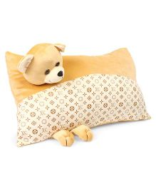 Funzoo bear Soft Toy Pillow - Light Brown