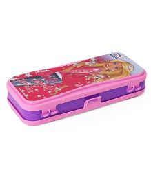 Barbie Jammin & Glammin Dual Sided Pencil Box - Pink