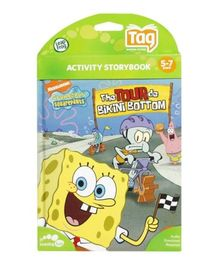 Leap Frog - Activity Storybook - Nickelodeon Sponge Bob Squarepants - The Tour De Bikini Bottom