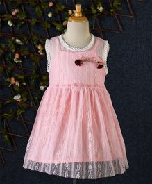 Lekeer Kids Floral Lace Dress - Light Pink