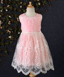 Fen Cai Floral Lace Dress - Pink