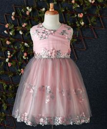 Fen Cai Floral Design Dress - Pink