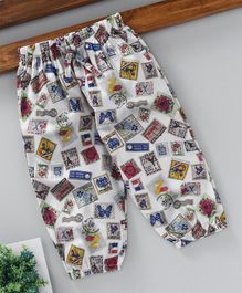 YiYi Garden Stamps Printed Lounge Pants - White