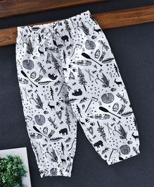YiYi Garden Insects And Animals Printed Lounge Pants - White