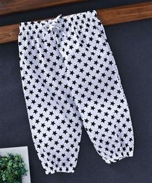 YiYi Garden All Over Stars Printed Lounge Pants - White