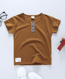 Fen Cai Donald Printed On The Back Tee - Brown