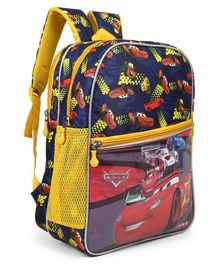 Disney Pixar Cars School Bag Character Print Blue - Height 14 inches