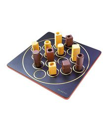 Gigamic Quarto Strategy Classic Wooden Game - Multicolor
