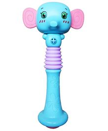 Emob Animal Face Shaking Squeezable Baby Rattle - Pack of 1 (Color & Design May Vary)