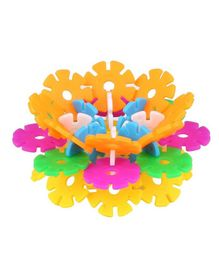 Emob Interlocking Snowflakes Shaped Blocks Set Multi Color - 73 pieces