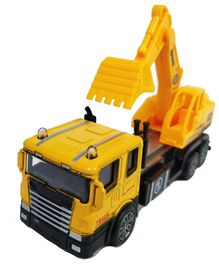 Emob Battery Operated Die Cast Metal Excavator Construction Toy Truck - Yellow