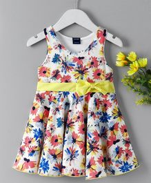 Hudson Baby All Over Flower Print Dress - White