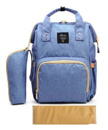 T-Bags Large Capacity Backpack Style Diaper Bag - Blue