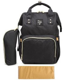 T-Bags Large Capacity Backpack Style Diaper Bag - Black