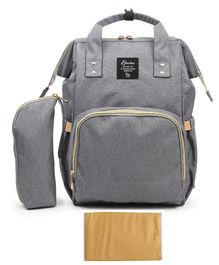 T-Bags Large Capacity Backpack Style Diaper Bag - Grey