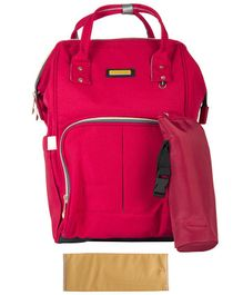 T-Bags Backpack Style Diaper Bag - Dark Pink