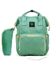 T-Bags Large Capacity Backpack Style Diaper Bag - Green