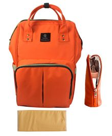 T-Bags Backpack Style Diaper Bag - Orange