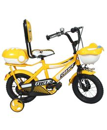 Cosmic Force Kids Bicycle Yellow - 12 inches