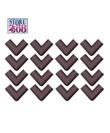 Store2508 Corner Guards Pack of 16 - Dark Brown