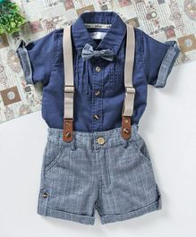 ZY & UP Solid Shirt & Shorts Set - Blue