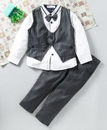 ZY & UP 3 Pcs Party Wear Suit - Grey