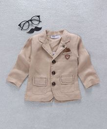 ZY & UP Party Wear Jacket - Beige