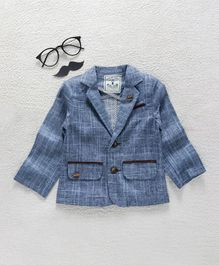 ZY & UP Party Wear Jacket - Blue