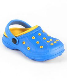 Cute Walk by Babyhug Clogs With Back Strap - Blue Yellow