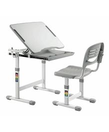 Kidomate Table & Chair With Height Adjustment - Grey