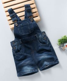 Kiabi Solid Print Dungaree - Blue