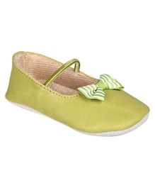 Beanz Gabby Pram Ballerina Shoes - Green