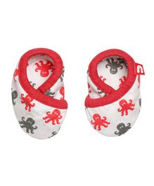 Nino Bambino Booties & Mittens - Red