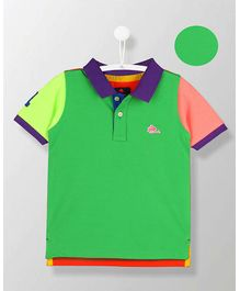 Cherry Crumble California Color Flowing Polo - Green