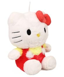 Hello Kitty Plush Soft Toy With Bow Red Yellow  - Height 25 cm