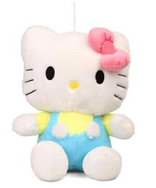 Hello Kitty Plush Soft Toy With Bow Blue Yellow  - Height 40 cm