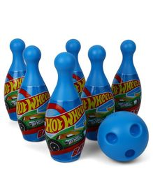 Hot Wheels Printed Bowling Set Blue - 7 Pieces