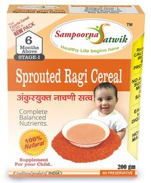 Sampoorna Satwik Sprouted Ragi Cereal - 200 gm