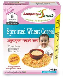Sampoorna Satwik Combo Multigrain Stage 2 With Sprouted Wheat & Ragi Cereal Pack of 3 - 200 gm each