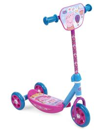 Peppa Pig Three Wheel Scooter - Pink Blue