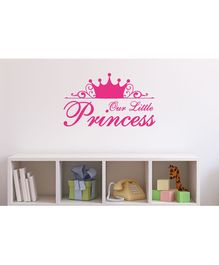 Asian Paints Baby Girl Our Little Princess Wall Sticker - Dark Pink