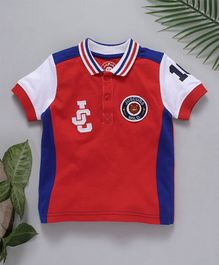 Jus Cubs JC Applique Polo T-Shirt - Red