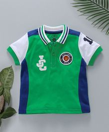 Jus Cubs JC Applique Polo T-Shirt - Green