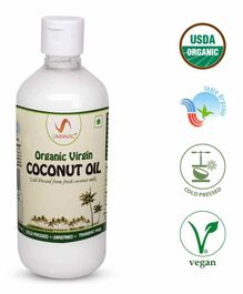Umanac Organic Raw Extra Virgin Coconut Oil - 500ml