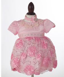 Whitehenz Clothing Floral Ardour Dress with Headband - Baby Pink
