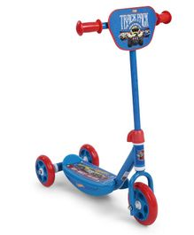 Hot Wheels Three Wheel Kids Scooter - Blue Red
