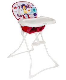 Graco Tea Time Circus Print Highchair - Red White