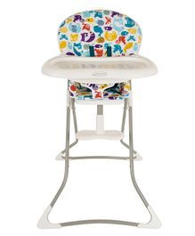 Graco High Chair With Adjustable Feeding Tray Animal Print - Multicolour